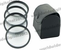 62mm 62 Closeup Close-Up Macro +1 +2 +4 +10 Filter Kit Set with Pouch  Petal Flower Lens Hood  Filter Kit