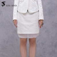 2013 autumn models white women high waist skirts commuter package hip SQ0082