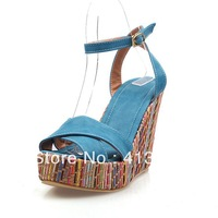 2013 new platform lady women party sexy high heel wedge sandals for women and women's summer ladies canvas shoes