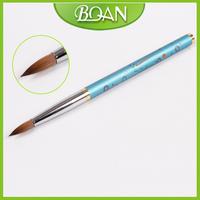 Free Shipping New Design Diamond Naild Flat Acrylic Nail Brush Kolinsky Nail Brush 12#