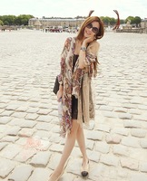 Scarf female autumn and winter cape dual-use ultra long female