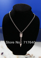 Handmade fashoin charm silver arrow chain necklace Unique, 6Pcs/lot!, Min Order $10.0,Free Shipping