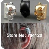 ES123 Min.order is $10(mix order) punk skull earring clip ear bone folder ear bones ring clip earrings Free shipping