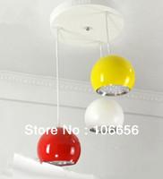 LED retractable pendant light lamp for hotel restaurant dinning room table 3 head 21w
