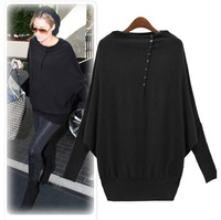 New arrival!New 2013 Women's Batwing Sleeve Long-sleeve Loose Sweater Europe Fashionable Ladies' cardigan Pullover ZZS3115