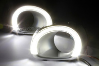 HOT selling!! Bright lamp LED daytime running lights special for SUBARU OUTBACK  with Fog lamp shade free shipping