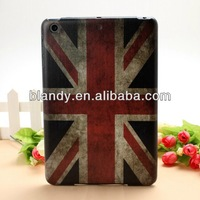 10pcs/lot Free Shipping New UK USA flag flower hard cover case for ipad mini2