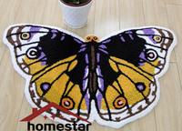 CR-29 50x80cm Hand Tufted Embroideried Butterfly Bedroom Bathroom Carpet Floor Door Mat Area Rug Spring Rug New Arrival