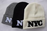 2014 New Arrival 40 oz NYC beanies hats Black Grey White Cheap fashion winter Mens & women's skullies caps hat cap top quality
