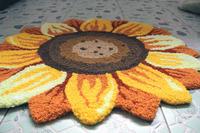 CR-26 60x70cm Embroidered handmade floral rug spring Sunflower Carpet Bedroom Bathroom rug Floor mat Doorway Mat Area Rug pad