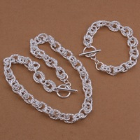Christmas gift S418 Free Shipping,wholesale 925 silver jewelry set,fashion jewelry for women factory prices