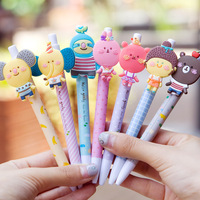 Creative novelty fashion Rear and front desk korea stationery animal ballpoint pen ballpoint pen  10pcs