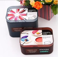 1556 Min order $10 (mix order) free shipping small size creative home premium desktop cosmetic storage box sorting boxs