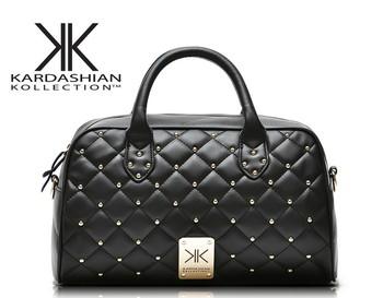Модный handbags Kardashian kk plaid rivet Плечи bag handbag messenger bag Женщины's ...