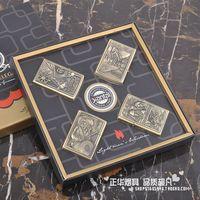 Jiantai kerosene, bronze lighter pirate grinding wheel firetone open flame male personalized gifts