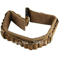 Free shiping!27-Holes Rifle Bullets Elastic Cartridge Holes 2-Strap Designed Hunting Belt - Earthy