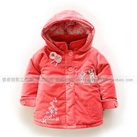 Winter outerwear top female child wadded jacket children's clothing outerwear thick thermal top MINNIE