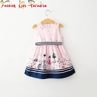 2014 new arrival brand designers girls dress,children dresses with 100% high quality cotton,fashion kids girl's dress 2-8y