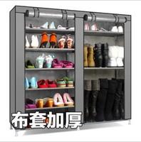 Simple shoe hanger beightening double 12 large capacity shoe hanger belt dust cover shoe hanger