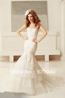 2014 New Arrive/Hot Sale Noble Mermaid  With zip Garden/Outdoor Wedding Dress,Custom All Size!!!