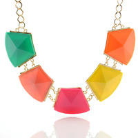 Promotion 2013 new fahion candy color cute bubble pendant necklace statement chunky design body collar chain women jewelry gift