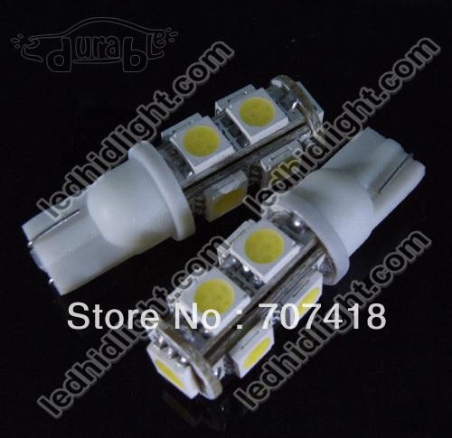100 PCS dc 12V W5W T10 9 SMD 5050 9smd 194 168 LED license plate Lamp(China (Mainland))