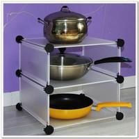 Broadened magicaf diy combination pot shelf dish storage rack