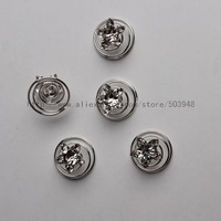 (12 Pcs)Silver Bridal Diamante Crystal Flower Hair Twists Swirls Coils Spirals Pins - 6