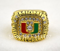 Free Shipping 1991 Miami Hurricanes National Championship Ring Fan Gift