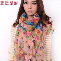 5 autumn and winter female fluid long design bali yarn scarf silk scarf cape dual-use ultra long