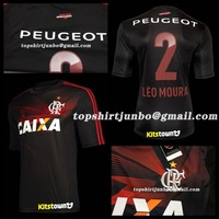 A+++ Brazil Football Soccer Clube de Regatas do Flamengo Jersey 13 14 Black 3RD Mens Brand Logo Thai Futbol Uniforms Custom