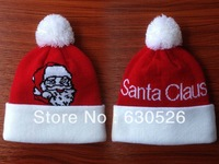 Free shipping 15pcs/lot Santa Claus  Beanies with pom red/white Santa Claus Santa Claus the adult's hat children's hat