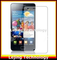 S2 i9100 clear Screen Protector For Samsung Galaxy S II S2 i9100 with Retail Package (10flim + 10cloths) Free Shipping