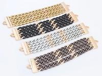 Total Stud Curb Wide Chain Bracelet Fashion Punk Statement Chain Bracelet cxt901545