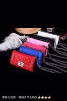 wholesale 5pcs/lot Newest Luxury Brand leather Case With Chain Purse for iPhone 4 4S with retail package