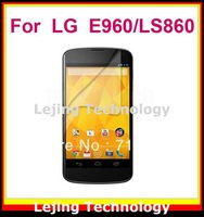 Nexus 4 E960 clear Screen Protector film guard For LG Nexus 4 E960/LS860 with Retail Package (10flim+10cloths) Free Shipping