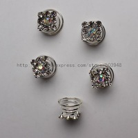 (12 Pcs) Crystal Clear Solitair Bridal Hair Pin Twist Prom Spiral Twirl Rhinestone
