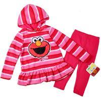 New Spring/autumn/winter children sport clothing sets kids wear Sesame street clothing fashion girls new dress clothing suit