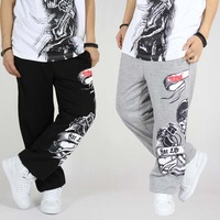 Autumn  hiphop pants Casual pants  Doodle  Street pants Male long Sports pants