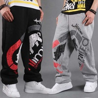 Hip hop jeans  hypertensiveperson pants Loose plate Autumn Sports trousers