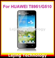 G510 clear Screen Protector For Huawei G510 T8951 with Retail Package10films+10cloths Free Shipping