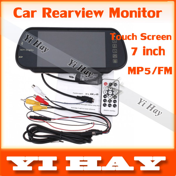 "New Car Rearview Monitor 7"" Color TFT LCD rear view monitor for DVD VCR Camera,SD USB MP5 FM Transmitter + IR remote controller(China (Mainland))"