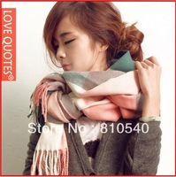 Free shipping  wholesale 2013 new South Korea version of the classic color plaid &grid scarves extra-large warm scarf