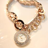 2013  diamond bracelet watch crystal table fashion quality women rhinestone watches steel bracelet watch jelly vintage watch