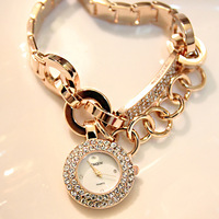 2013  diamond bracelet watch crystal table fashion quality women rhinestone watches steel bracelet watch jelly vintage watch