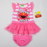New summer style children sport clothing suit grace lovely baby girls clothing sets fashion girls new dress (3sets/lots)