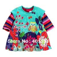 Hot Sale, 2014 New Arrival girls dress, high quality children dress, fashion brand dress girl, top designer kids girls' dresses