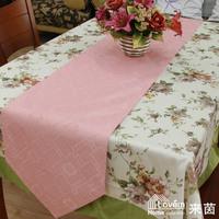 Fashion brief nano rhombus jacquard Pink belt table runner placemat