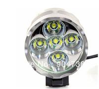 NEW 5 x CREE LED XML XM-L T6 LED 7000Lm Flashlight Bicycle Light Headlamp