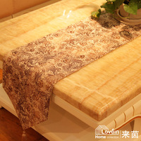 New arrival suede fabric belt vintage print table runner placemat